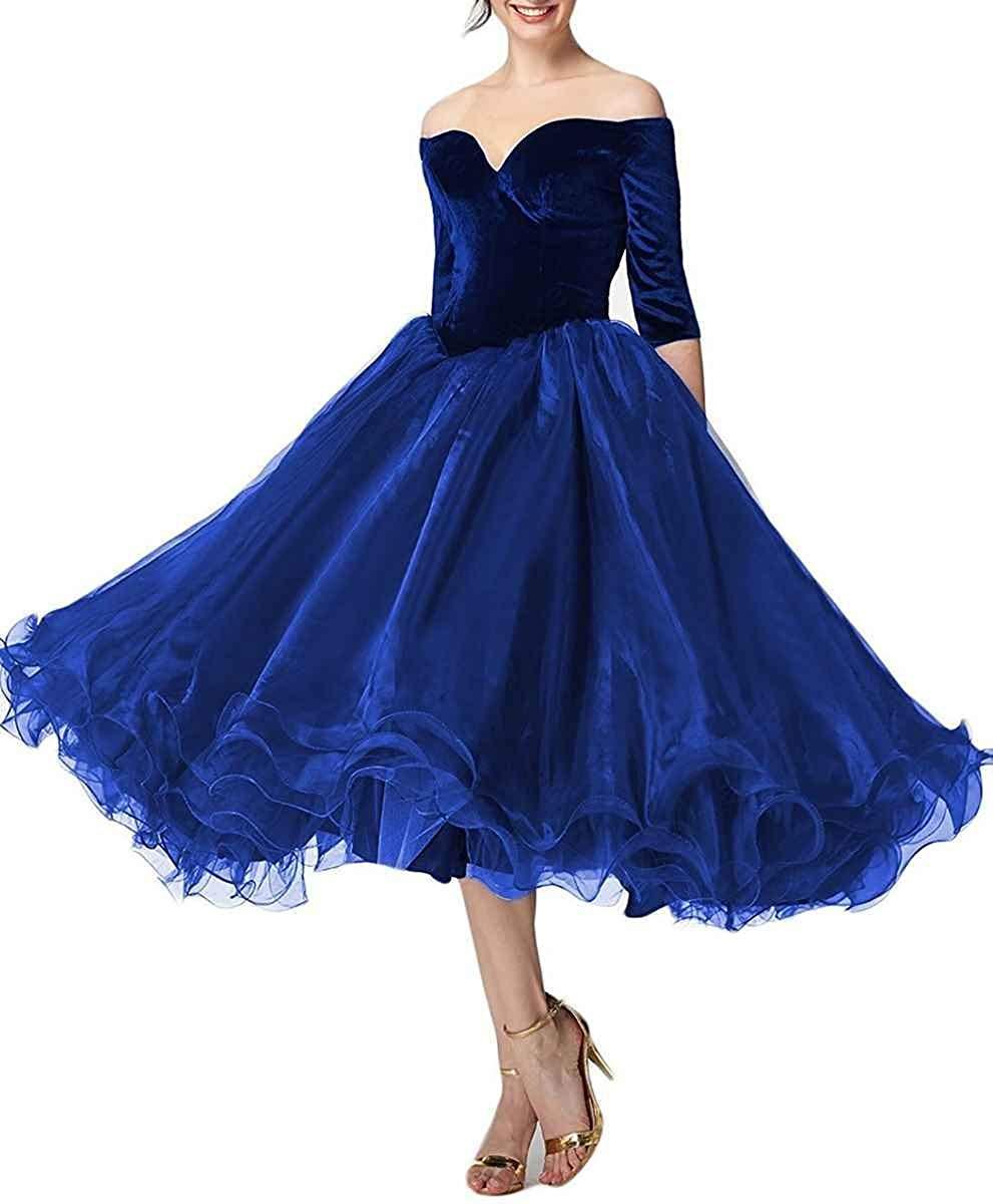 Robe de bal élégante JaneVini robe de bal bordeaux pour femme de grande taille col en V Organza longueur de thé robes de bal formelles Vestidos Largos - 4