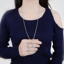 Todorova Luxury Crystal Cubic Zircon Necklace Sweater Chain Big Gourd Pendant Long Women Jewelry Accessories Gifts