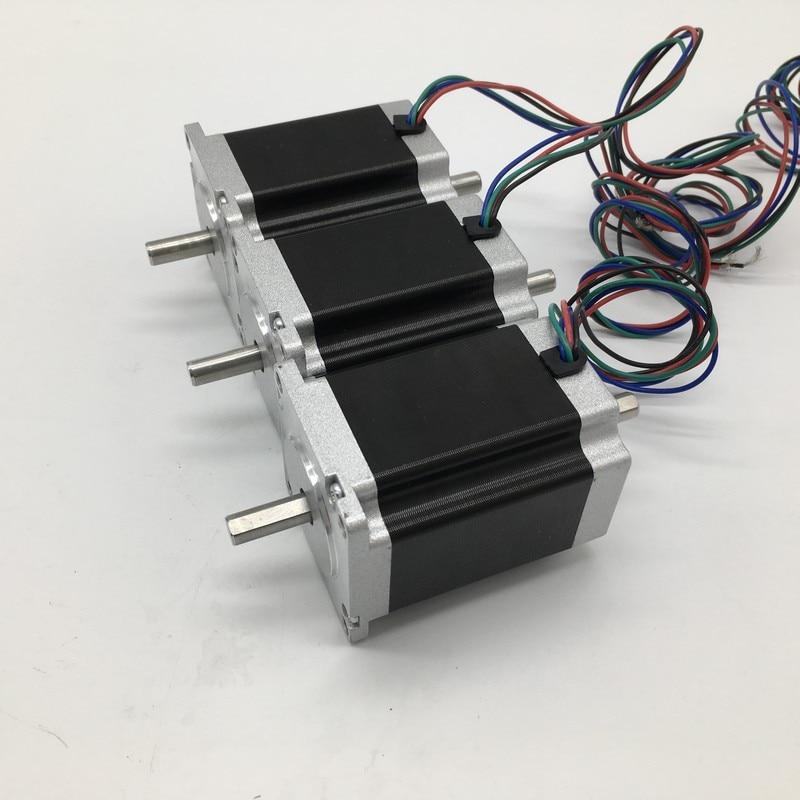 3PCS Nema23 Stepper Motor Dual shaft 57 112mm 4 2A 3Nm 430Oz in 2ph 4 Wires