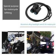 Car-Styling 12V Dual 7/8in Aluminum Motorcycle Handlebar Button On/Off Switch for Headlight Headlamp High Quality
