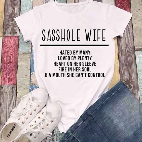 35e275bb059d Sasshole Wife kawaii women fashion funny slogan T-shirt cotton casual  aesthetic tumblr party style