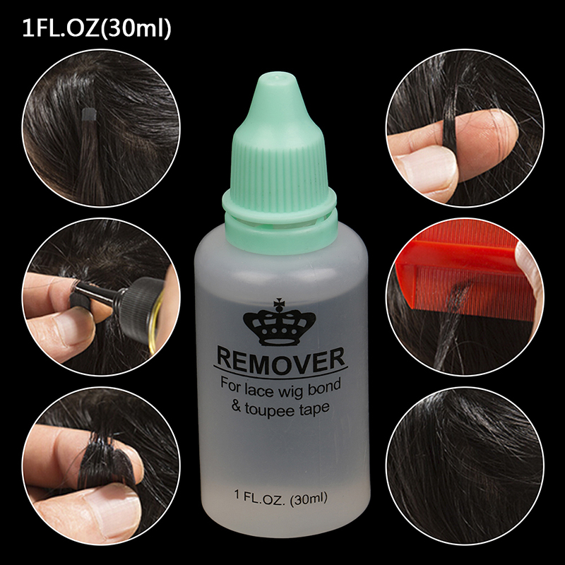 30mL Wig Glue Remover Lace Wig Glue Wig Invisible Adhesive Hair Glue Extension Liquid For Hairstyle Beauty Accessory Salon Use