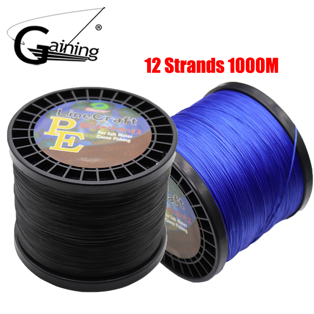 Braided Fishing Line 1000M Super Strong Japan Multifilament 100 PE Braided Fishing Line 12 Strands Braided