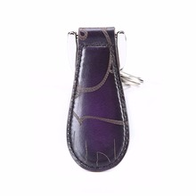 TERSE_Luxury handmade leather-based shoehorn mens womens real leather-based style key chain customise service
