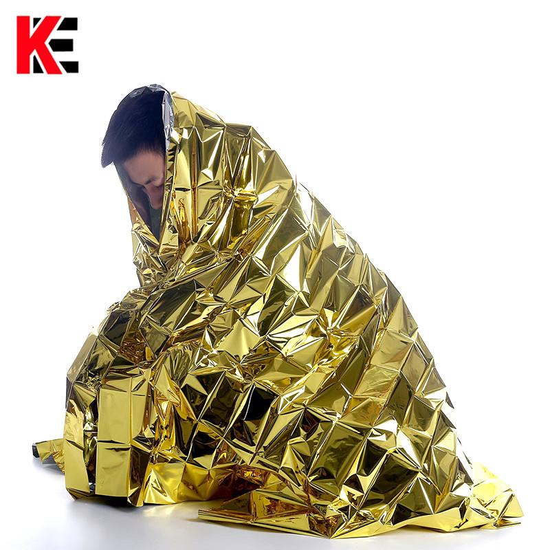 Outdoor Thermal Survival Blanket Tourism Camping Rescue Blanket Emergency Tactical First Aid Foil Space Military Thermal Mantle