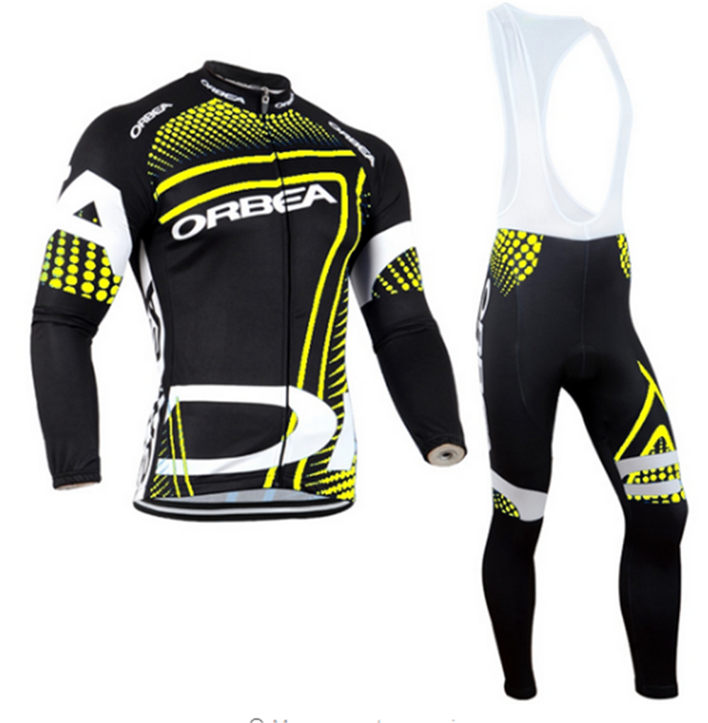 ORBEA 2016 long sleeve cycling wear clothes bicycle cycling jersey bib pants set Breathable clothing set