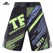 SOTF men s mma boxeo Green Line Combat Training Breathable font b Fitness b font Boxing