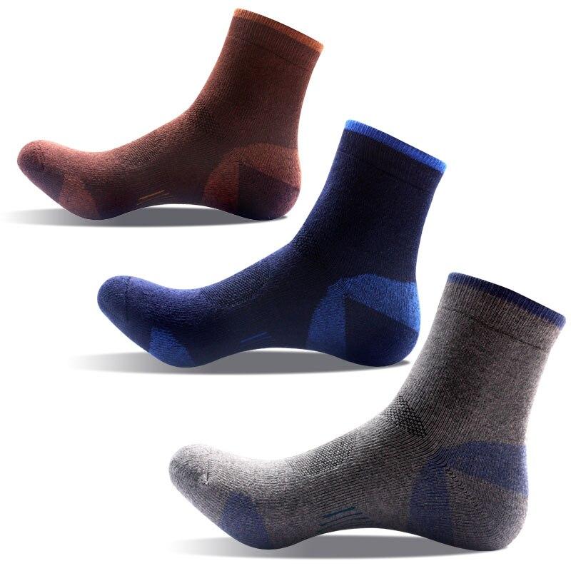 3pairs quality cotton socks mens thermo socks heated sokken protecting feet wearproof socks fleece soc short fleece adult sox