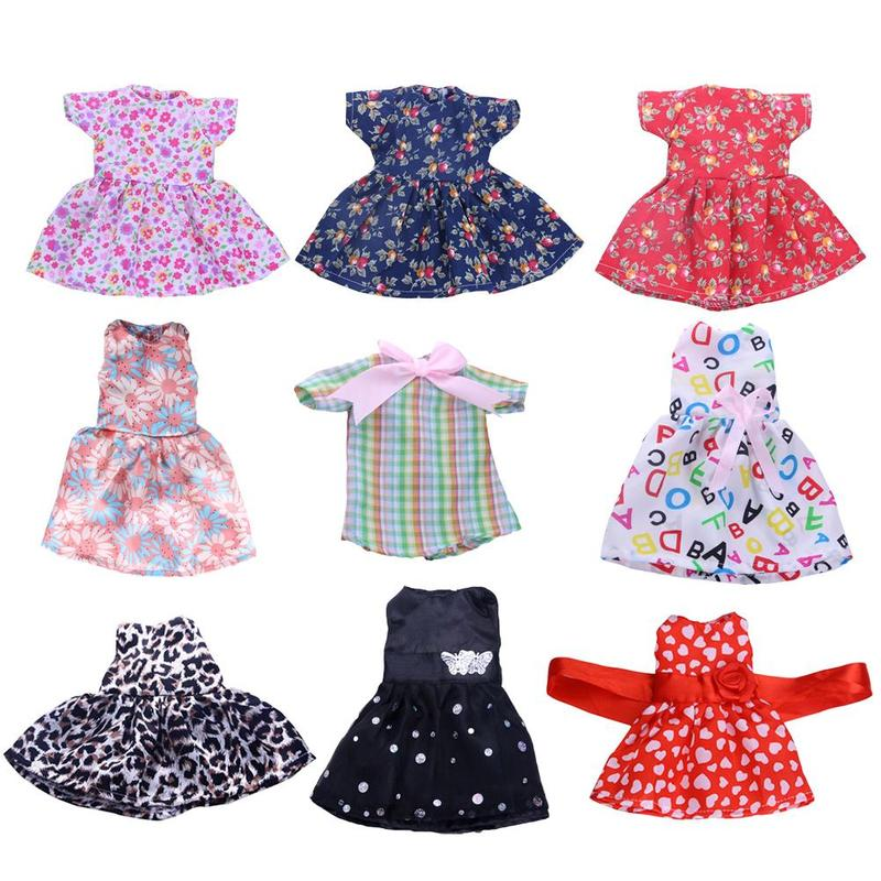 43cm Baby New Born Doll Suit Skirt 18 inch Boy Girl Clothes For Children Best Birthday Gift