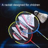 Children's racquet carbon composite badminton racquet beginner children's racquet 4U