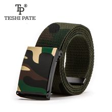 2017 new Camouflage printing Hip-hop graffiti Korean version of the trend Casual belts Male and female couple Canvas belt