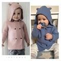 Ins caliente niños ropa de bebé ropa de bebé ropa de la muchacha del conejo de algodón niños suéteres vestidos vetement enfant garcon