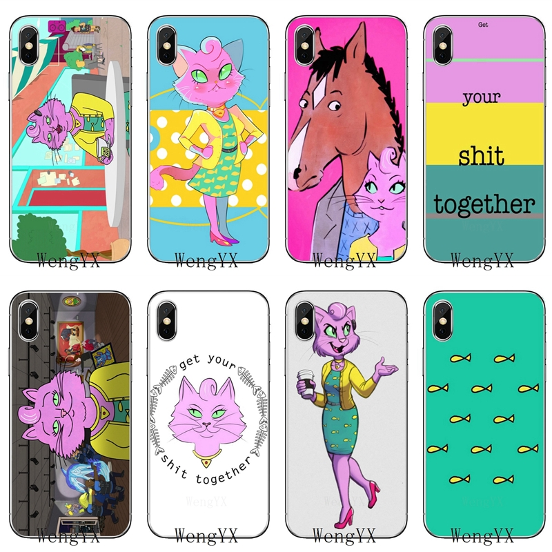 100% Quality Bojack Horseman Princess Carolyn Silicone Tpu Soft Phone Cover Case For Samsung Galaxy J1 J2 J3 J5 J7 A3 A5 A7 2015 2016 2017
