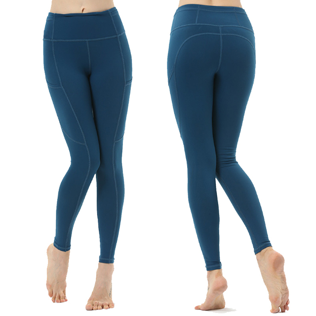 6173ab8e5e2a2 Lulu Pants Yoga Pants Women High Waist Elastic Yoga Lulu Leggings with  Pocket Gym Fitness Running Jogger Lulu Tights