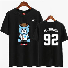 2016 new hot fashion T shirt Unisex pemenang Musim Panas kartun gaya nomor dicetak lengan pendek T k-pop Kpop Top(China)