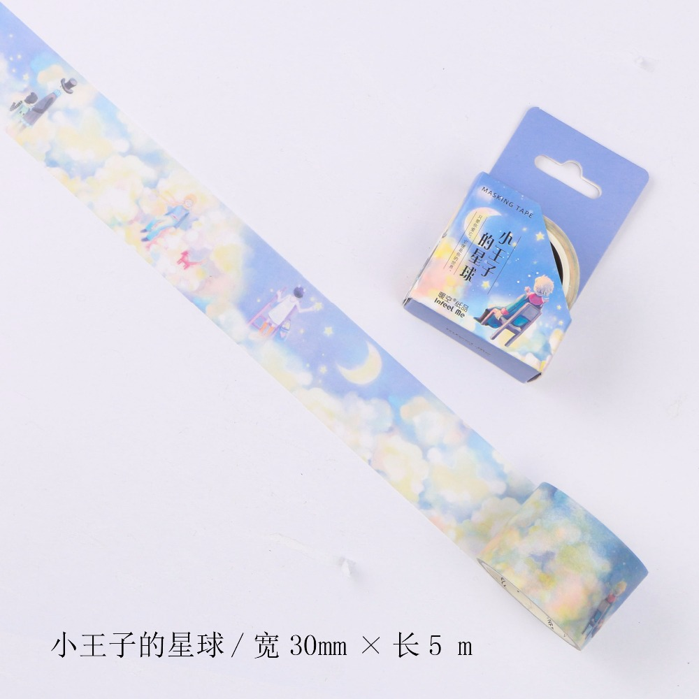 30mm Wide Little Prince Star Sky Fairy Tale Fantasy Decoration Washi Tape DIY Planner Scrapbooking Diary Masking Tape Escolar