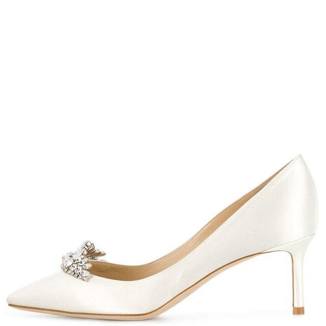 Thin Heels Slip On Wedding Shoes