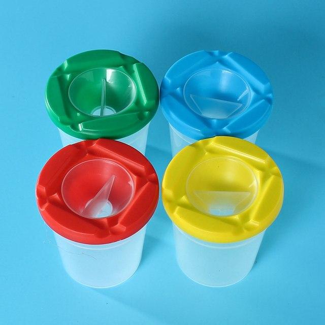 Online Shop Overvalue 4Pcs Colourful Childrens Paint Brush Non Spill ...