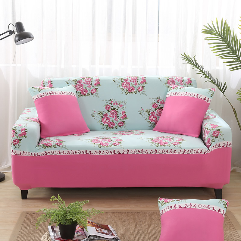 Universal sofa cover Print couch cover Polyester floral bench Covers Elastic stretchy Furniture Slipcovers home decoration XD17