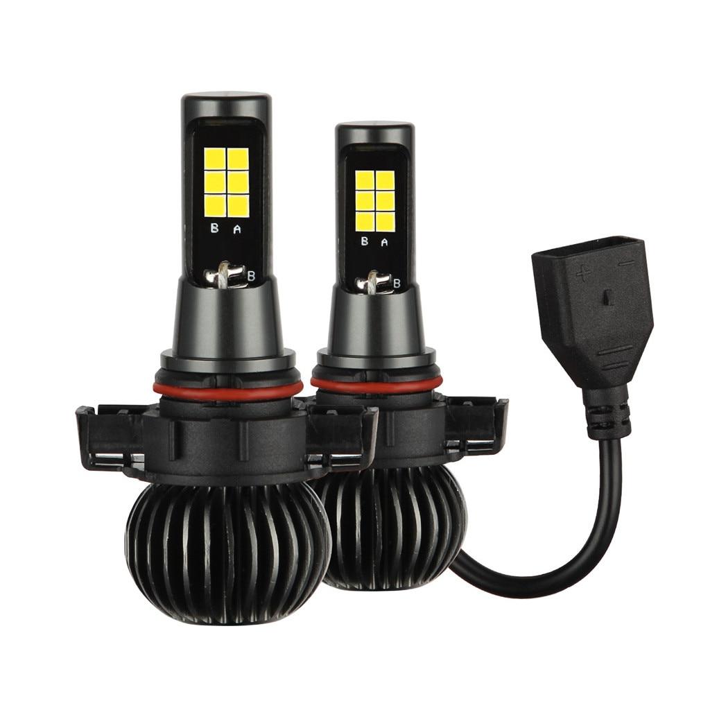 1 Pair Fog Light White Yellow LED Chips Light 5202 CSP Bulb Dual Color Kit For
