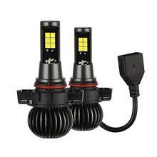 1 пара противотуманных фар белый/желтый светодиодный свет чипов 5202 CSP лампа двойной цвет комплект для противотуманных фар автомобиля более 50000 часов # T2