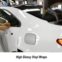 High Quality White Glossy Vinyl Film Gloss White vinyl Wrap Sticker for Car wrapping With air bubbles 5ft X 65ft/Roll best goods