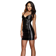 New Women Sexy Lingerie Hot Porn Erotic Lingerie Nightclub Wear Black Leather Dress Baby Doll Sex Costumes Exotic Apparel 25