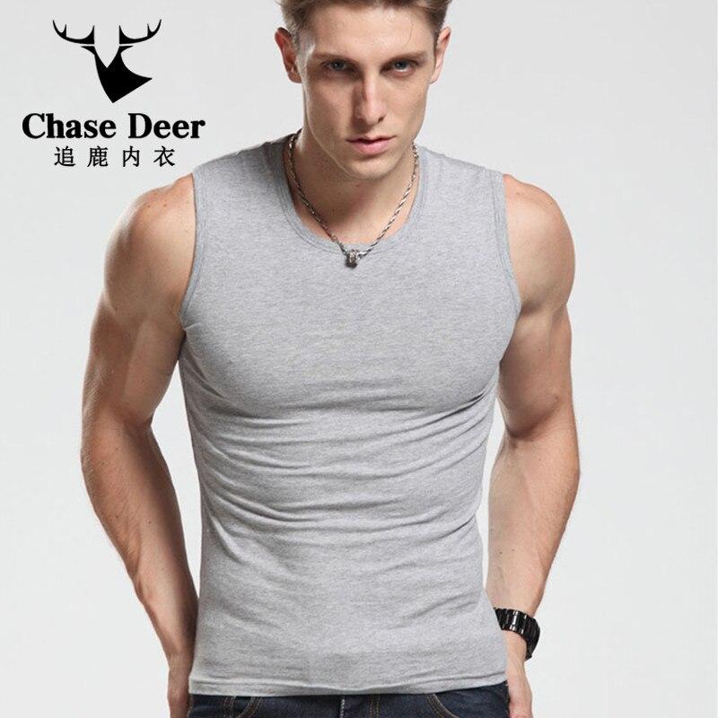 2018 Hot Sale 100% Cotton   Tank     Top   Men Bodybuilding Casual Clothing Undershirt   Tank     Top   Fitness Men Vest Men   Tank     Tops   Plus Size