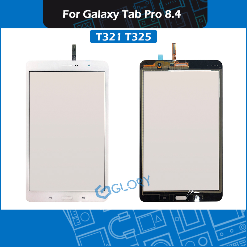White T321 T325 Touch panel For Samsung <font><b>Galaxy</b></font> <font><b>Tab</b></font> <font><b>Pro</b></font> <font><b>8.4</b></font> SM-T321 SM-T325 touch screen panel Digitizer <font><b>LCD</b></font> front glass image