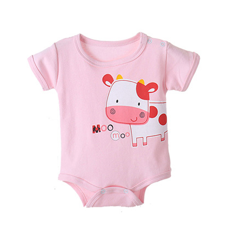 Newborn 0-10 Months Baby Girl Boy Cotton Short Rompers Cute Cows Sheep Momkey Cartoon Infant Jumpsuits Kids Underwear Product