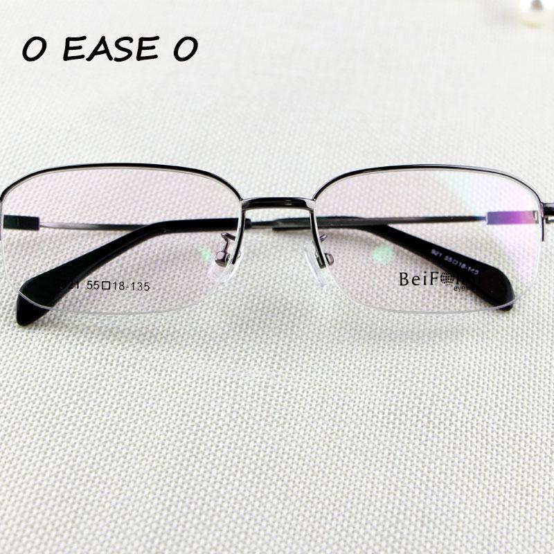 eb524ee7558c5 2017 Liga de Titânio Memória Flexível Confortável Óculos de aro Metade  Óculos De Armação de Prescrição Óptica Óculos 921