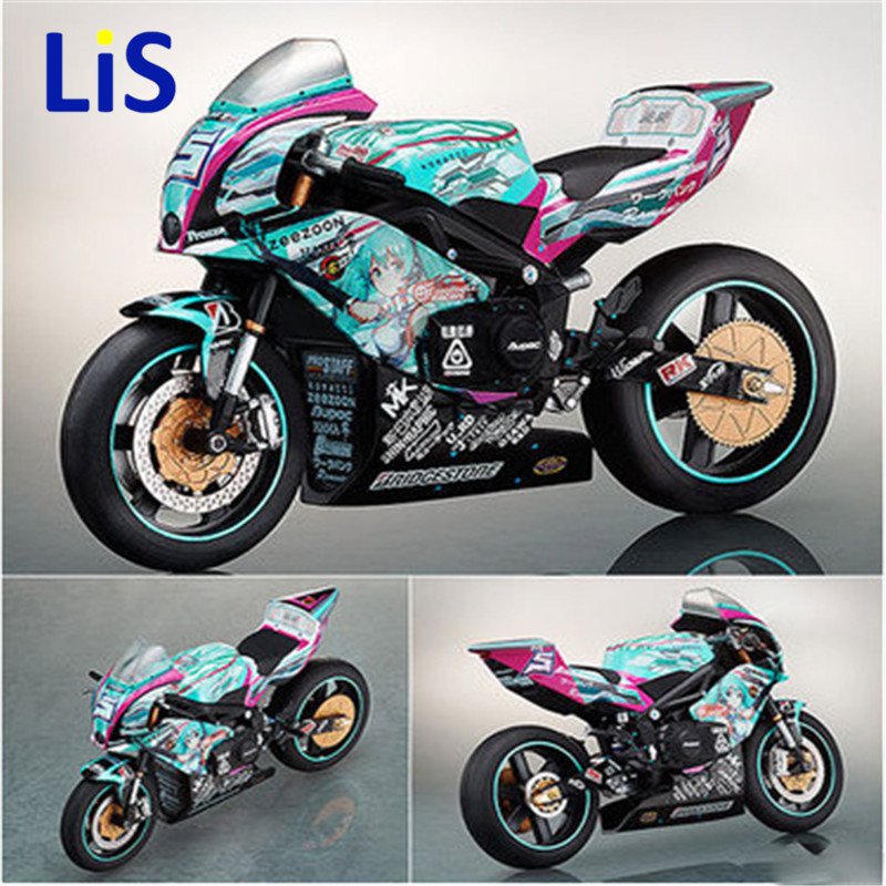 Anime Figma233/307 Action Toy Figures Hatsune Miku Motorcycle PVC Action Figure & rc car & Car-styling Toy 19CM Kid Toy