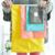 Material de poliéster de color caramelo en forma de barril con cordón impermeable cosmético de viaje bolsa de conjunto