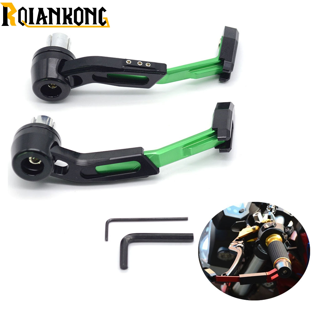 22mm Motorcycle Accessories Handlebar Clutch Brake Lever Protect Guard for Kawasaki Ninja 1000 1000R 250 250R 300 300R 400R 650 8 color motorcycle adjustment folding brake clutch levers set new for kawasaki ninja 300r ninja 250r z125 z250 z300