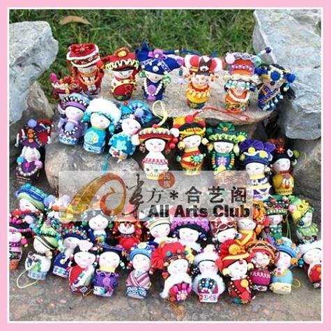 Minority's Doll ,National Fashion Doll,56 Chinese Dolls ,Promotional Gifts & Crafts,Wholesale+Free Shipping