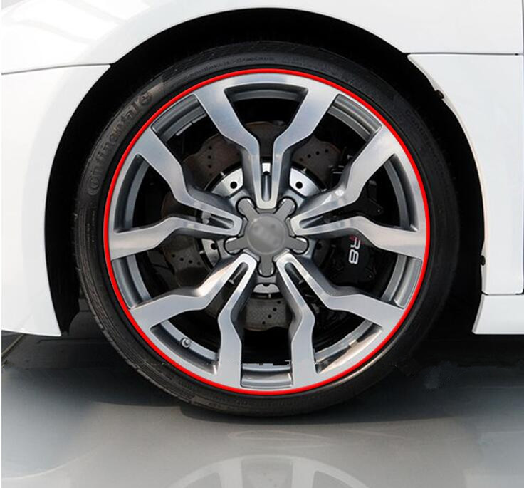 8M Car Styling Wheel Rim Protection Sticker Wheel Hub Protective Tape For SAAB 9-3 9-5 93 95 MG GT MG3 MG5 MG6 MG7 Accessories