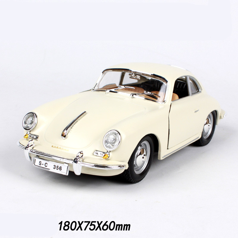 Bburago 1 24 Simulation Diecast Classic Car Model Toy For Porscheda 1961 356 With Steering Wheel