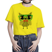 BGtomato o-neck Fashion owl t-shirt casual owl top tees women plus szie modal cool tshirt harajuku print brand new t shirt(China)
