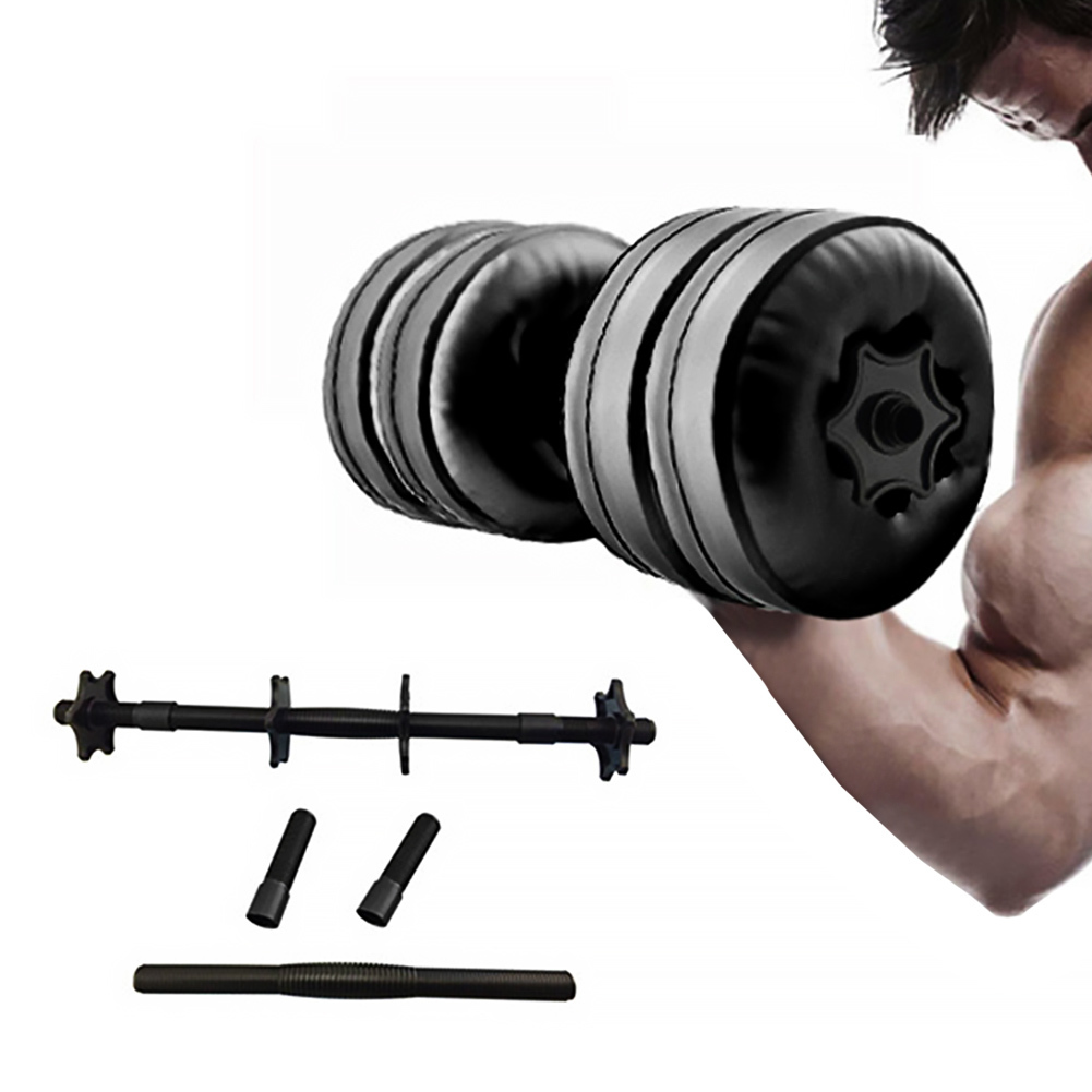 1 Pair Gym Equipment Weight Lifting Powerlifting Sports Plastic Water Dumbbell Portable Muscle Training Arm Fitness Accessories