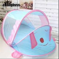 Portable mosquito net Baby Cot Canopy Mosquito Infant Portable Travel Bed Crib Mosquito Bug Net Cartoon cute