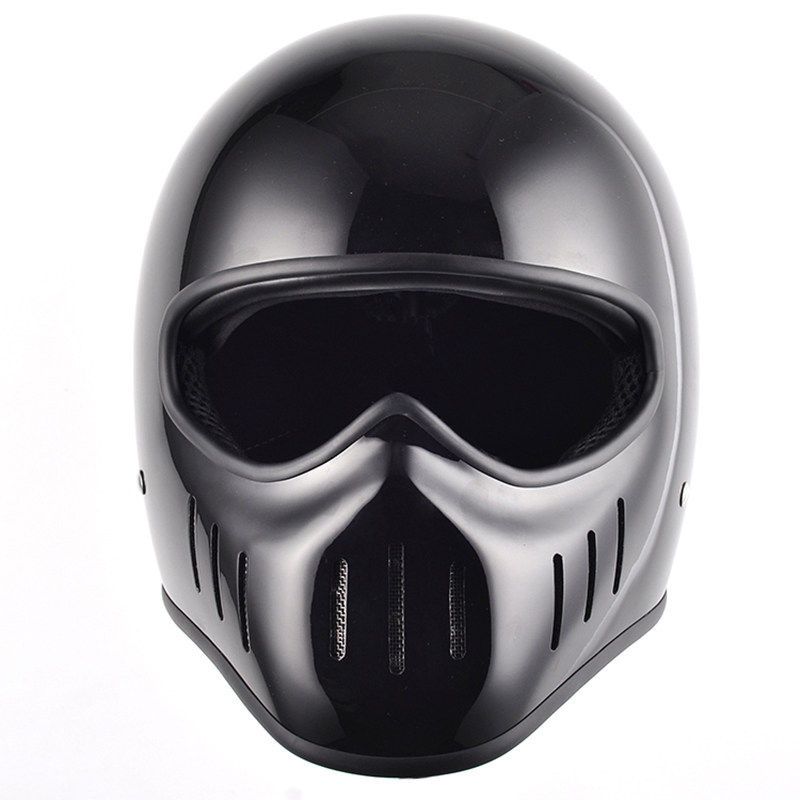 Japan Thompson TT Co fibe glass full face motorcycle helmet men and women vintage motorbike helmet