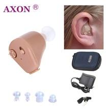 Ухо помощи Перезаряжаемые мини слуховой аппарат AXON K-88 Невидимый услышать ясный для пожилых людей глухих Уход за ушами Инструменты слуховой аппарат для пожелых