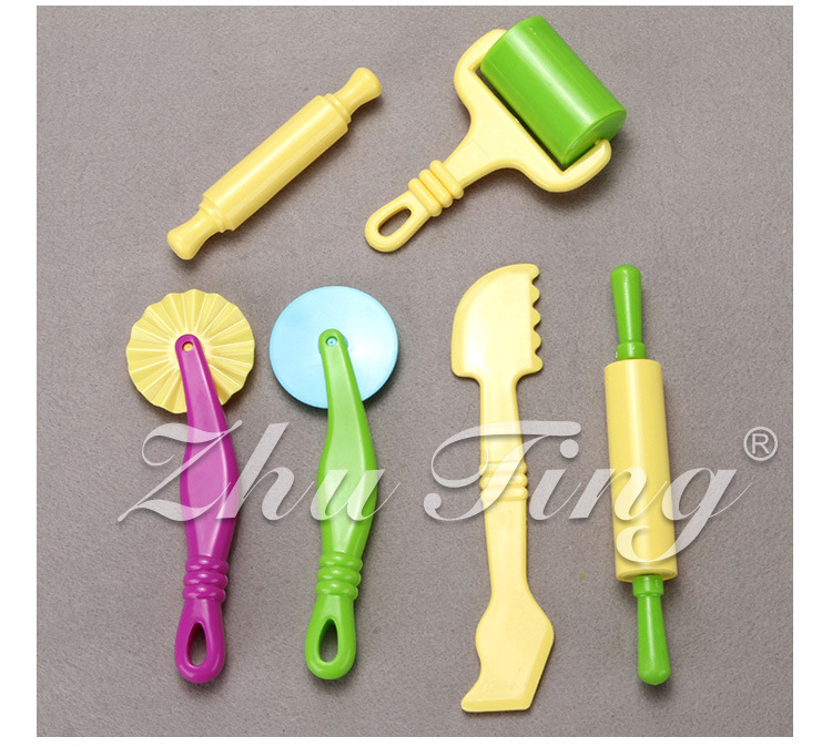New 6pcs/set Polymer Clayes Intelligent Plasticine models gh Modeling Mould Handgum Tools Toys Clay Polymer Mold Toy