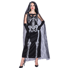 Free shipping 2018 adult Halloween costumes skeleton ghosts brides Cospaly stage costume dress for women цены