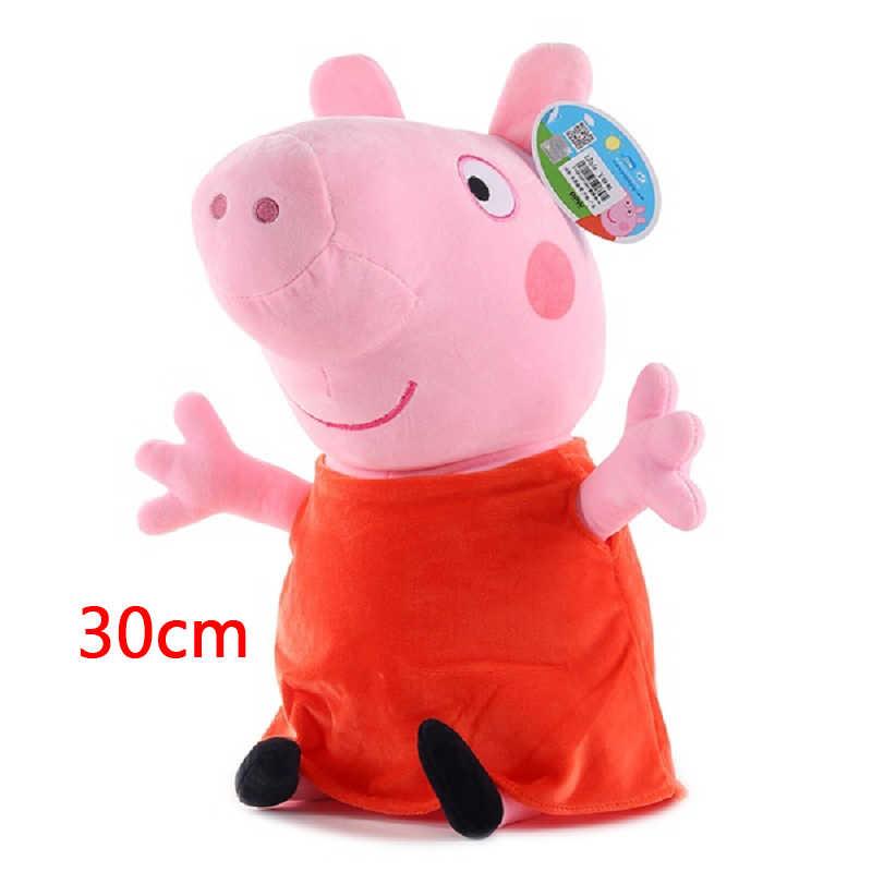 New Pink Pig Set Família de Pelúcia George Porco Cheia Boneca Amigos Porco Dinossauro Boneca Urso de Brinquedo de Pelúcia de Aniversário da Criança presente