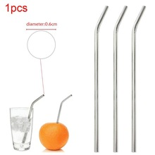 1 Pcs Reusable Drinking Straw Stainless Steel Drinking Tube Straw Bend/Unbend Pipette Suction Pipes High Quality Bar Accessories