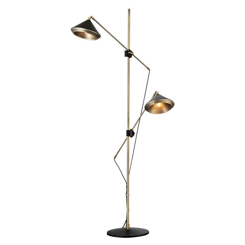 Post moderno Lampada da Terra Design Nero Bianco piano luce cappello ...