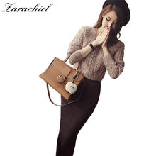 Zarachiel Winter Women Fashion Knit Suits 2 Piece Sets Handmade Twist Crochet  Knit Sweater + Mid-Calf Length Sheath Skirt Suit 8e08a0518bc8
