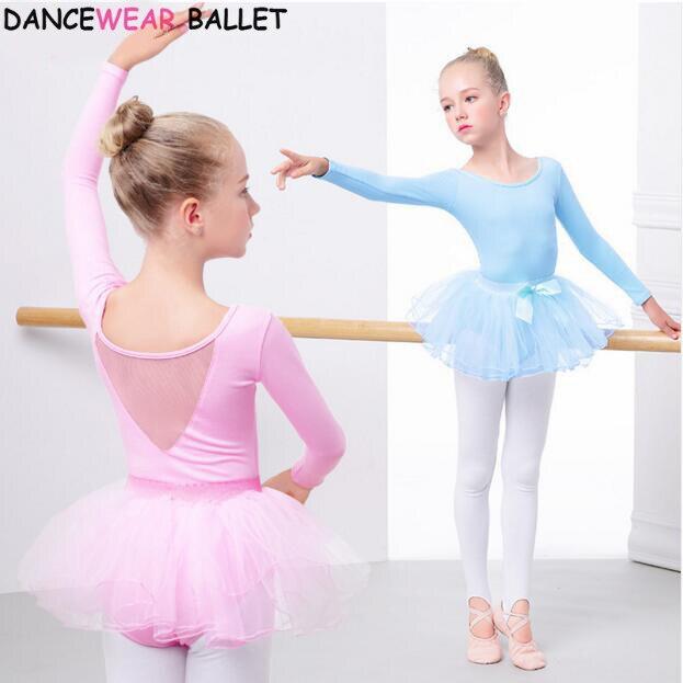 Kids Toddler Girl Long Sleeve Ballet Dance Wear Dress Leotard Tutu Skirts Nice