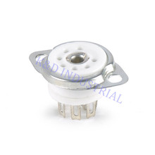 где купить 10pcs Ceramic Sliver Tube socket 6C33 FU29 829B 7Pin B7A Base Valve Amp Parts дешево
